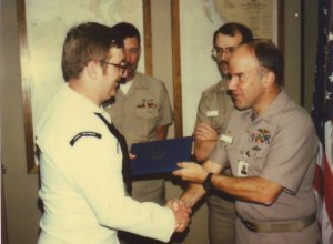 Dave being promoted to FTB2(SS) in 1986.